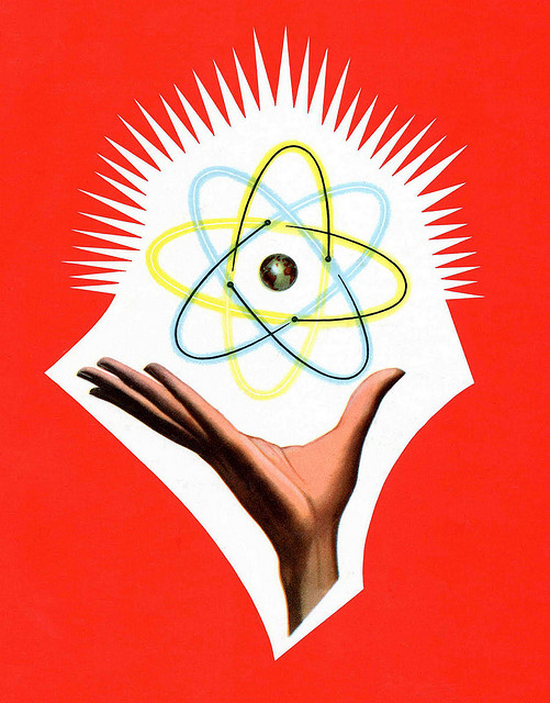 hand and atom